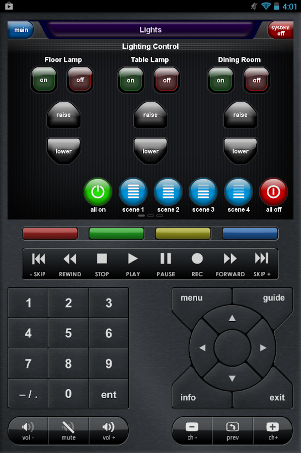CC Control Mobile for Android™- screenshot