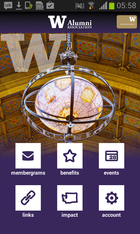 UW Alumni Association - screenshot