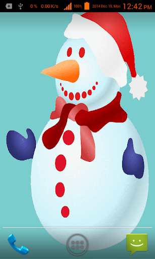 Snow Man Live Wallpaper