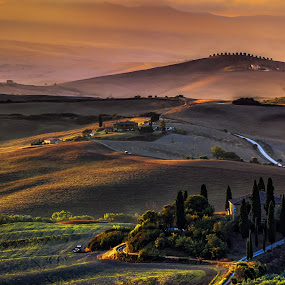 Good morning Tuscany! by Florin Ihora - Landscapes Mountains & Hills ( tuscany, toscana, sunrise, belvedere, italy,  )