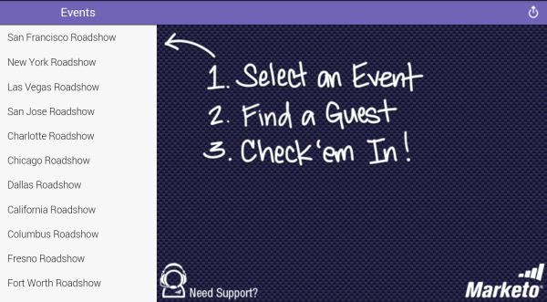 Marketo Events - screenshot