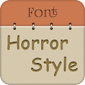 Horror Font Style Free icon
