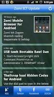 Screenshot of Zomi ICT Update