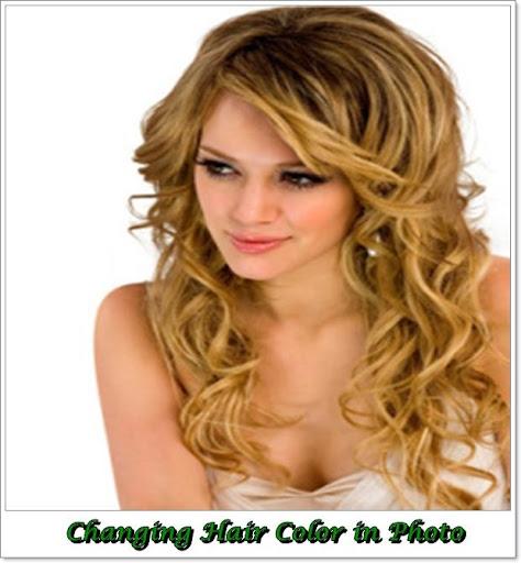 改變頭髮的顏色在照片中