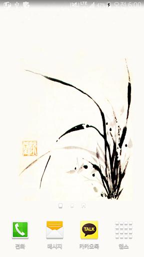 oriental orchid flower paper