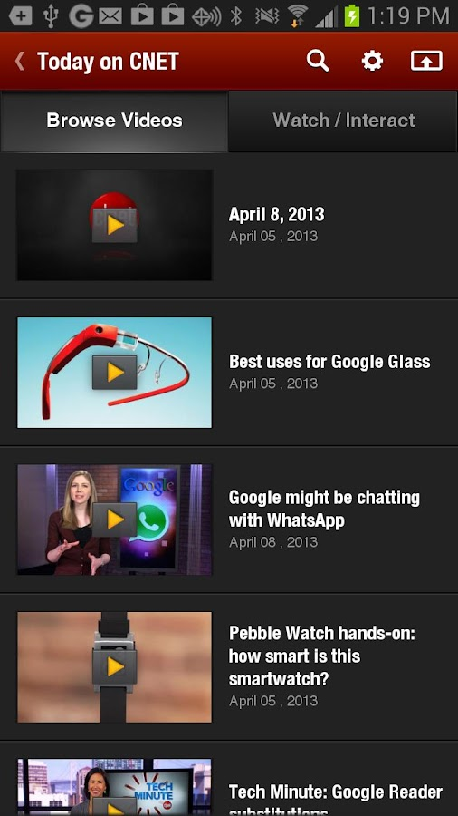 CNET Video+ - screenshot