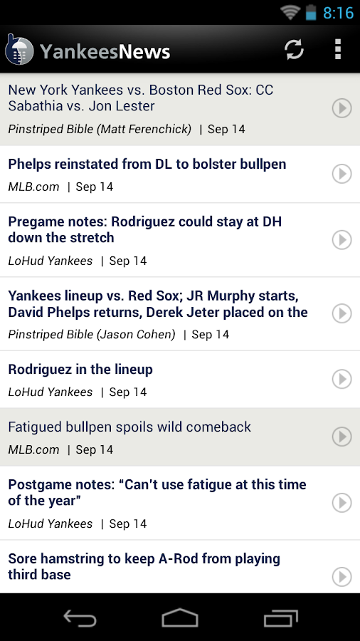 ZM: Yankees News - screenshot