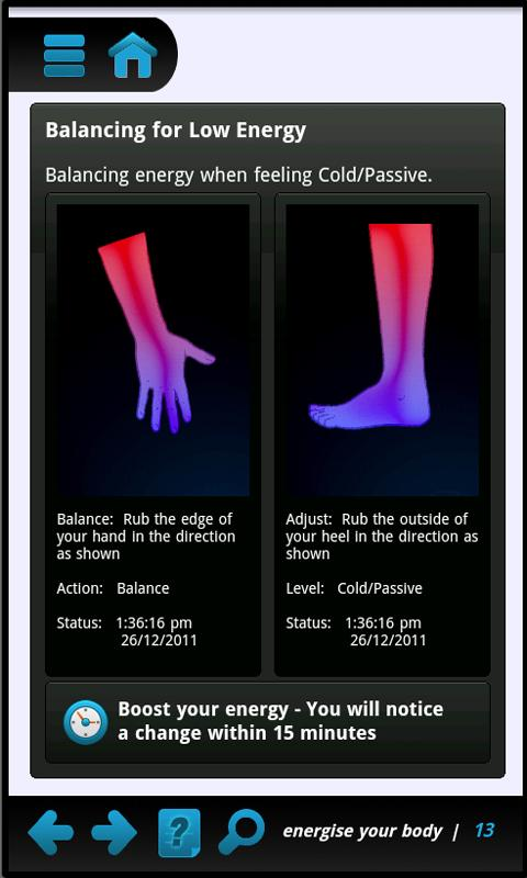 Energise - a body energy boost - screenshot