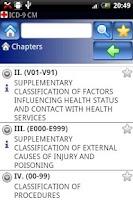 Screenshot of ICD-9 CM Lite