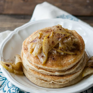 Vanilla Bean Pancakes with Maple Butter Pears