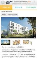 Screenshot of Trouver un logement neuf