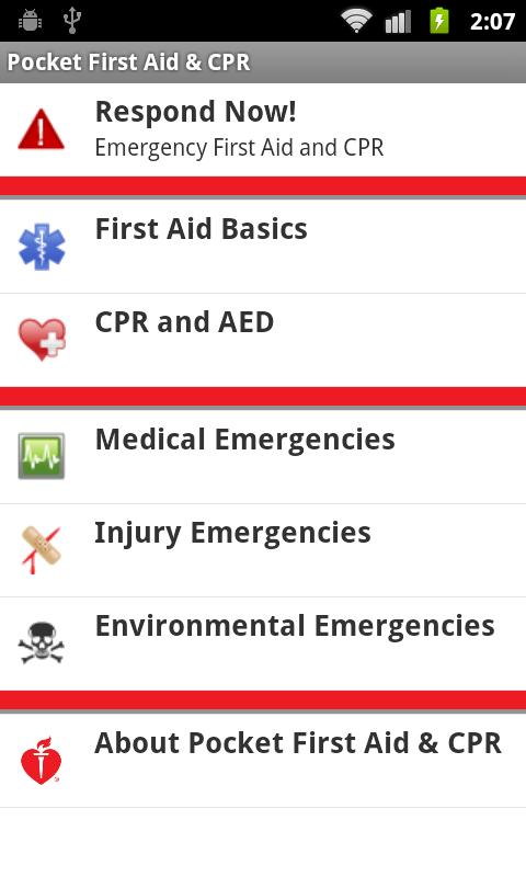 Pocket First Aid & CPR - screenshot