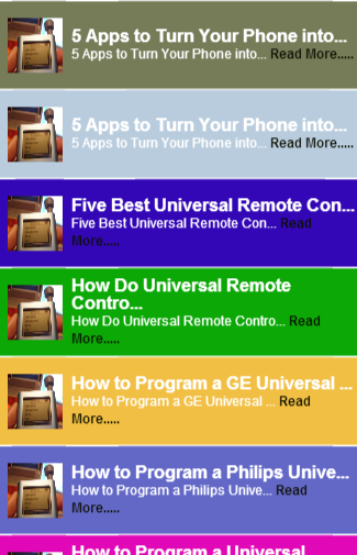 Remote TV Universal Tip