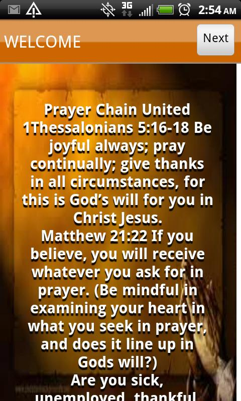 Prayer Chain United - screenshot