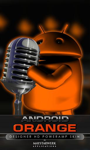 poweramp skin android orange