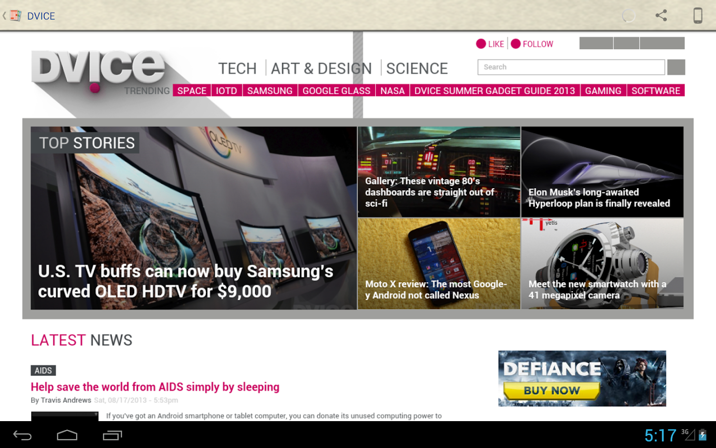 Tech News - screenshot