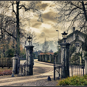 Gateway to the mountains by Ivan Ivanov - City,  Street & Park  Neighborhoods ( mountain, gateway, switzerland, thun, dusk,  )