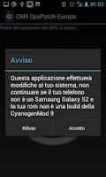 Screenshot of CM9 GpsPatch Europa