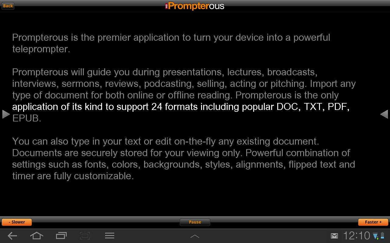 Prompterous - screenshot