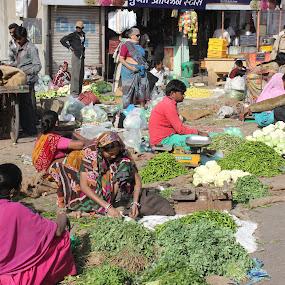 Street vegetable market by Thakkar Mj - City,  Street & Park  Markets & Shops ( ahmedabad, market, street, india, street market, vegetable, vegetable market,  )