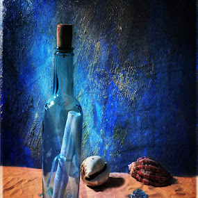Message for You by Randi Grace Nilsberg - Artistic Objects Glass ( idea, reflection, message in a bottle, old, cork, lost, paper, object, beach, longstanding, time, life, sea_shells, tide, glass, wine bottle, transparent, ashore, note, castaway, turquoise blue, ideas, sand, mail, shells, loneliness, communication, letter, textures, white, sea, still, secrecy, bottle, concepts, close-up, sos, message, blue, concepts and ideas, secret, survival, bind, conceptual, antique, hope,  )