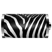 Zebra Skin Battery Widget