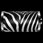 Zebra Skin Battery Widget