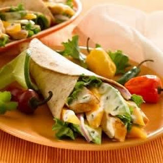 Grilled Chicken and Mango Wraps.
