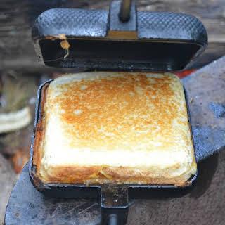 Pie Iron Grilled Cheese Sandwich.