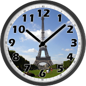 Tour Eiffel Day Clock