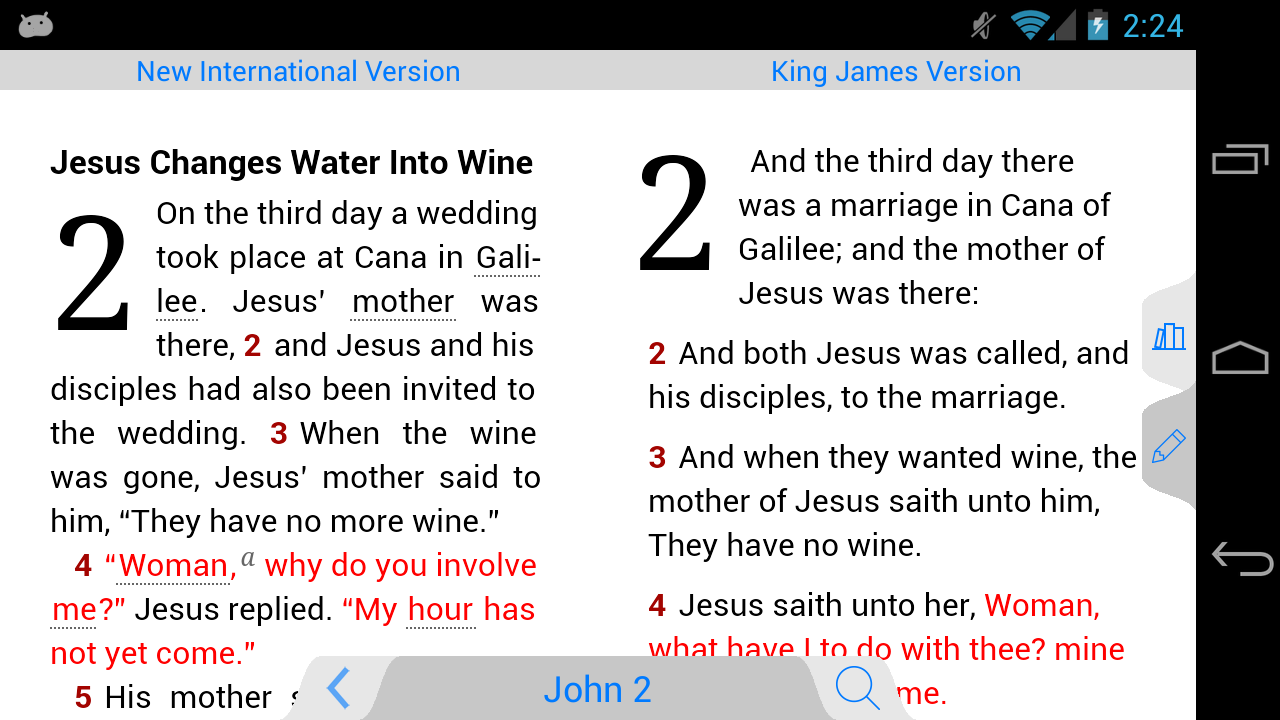 New American Standard Bible - screenshot