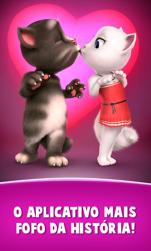 Cartas de amor do Talking Tom: captura de tela