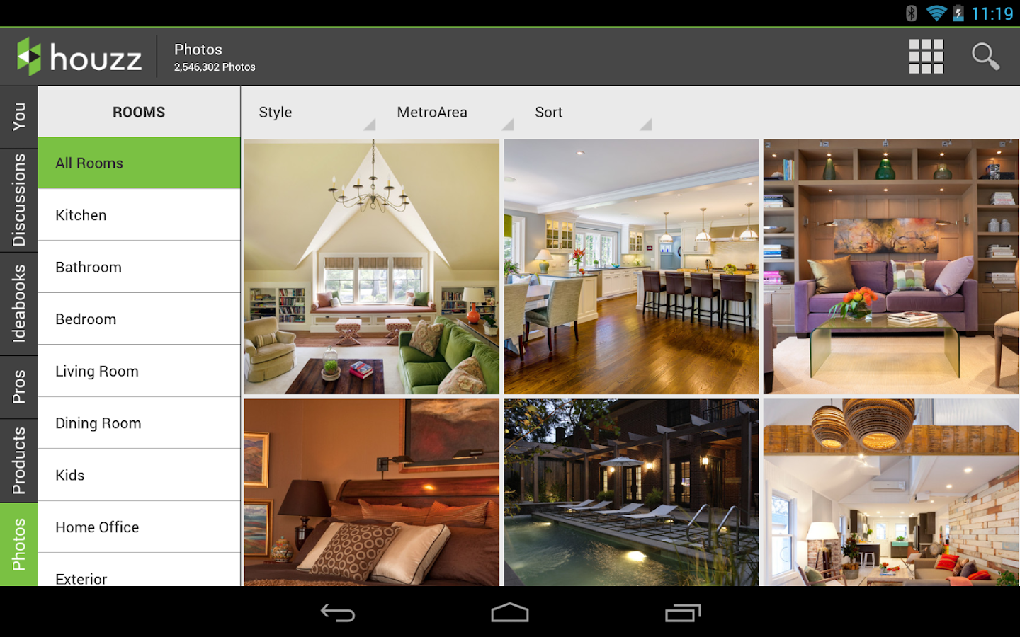 Houzz interior design ideas screenshot Design your room app