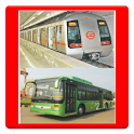 Delhi Route Planner(DTC,Metro) icon