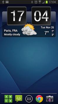 Sense Flip Clock and Weather