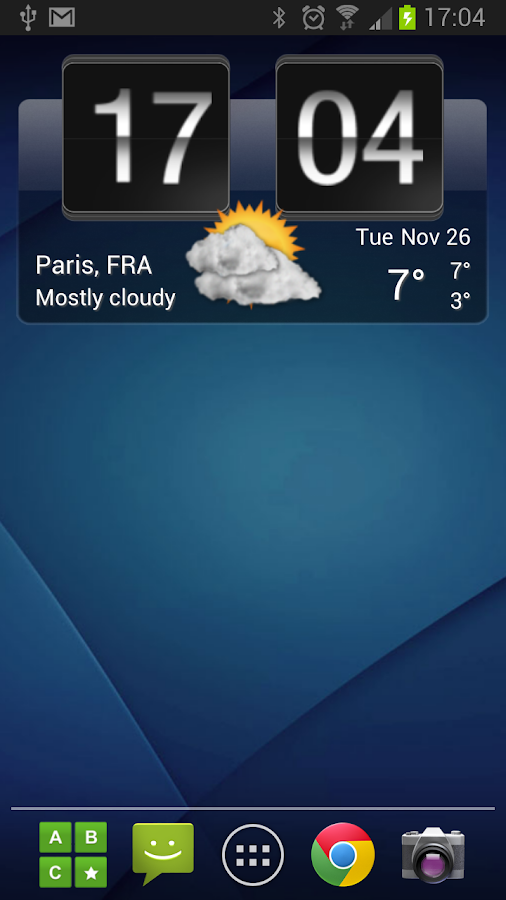Sense Flip Clock & Weather- screenshot