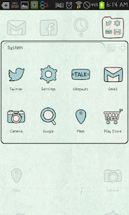 tired go launcher theme - screenshot thumbnail