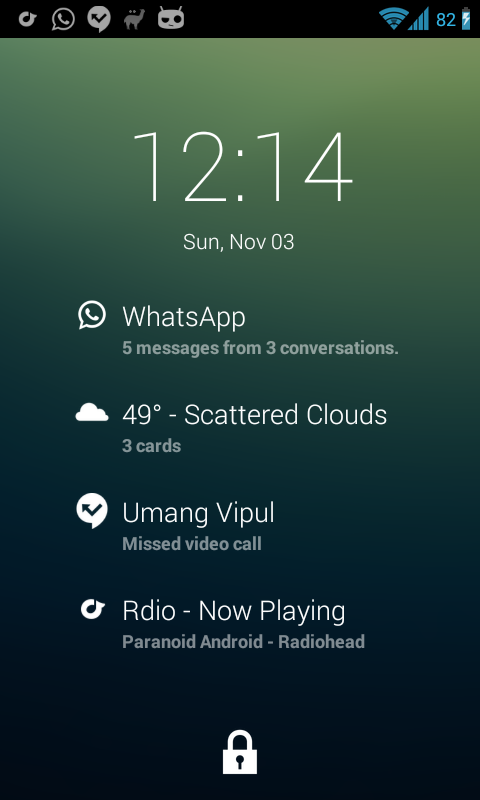 DashNotifier for DashClock - screenshot