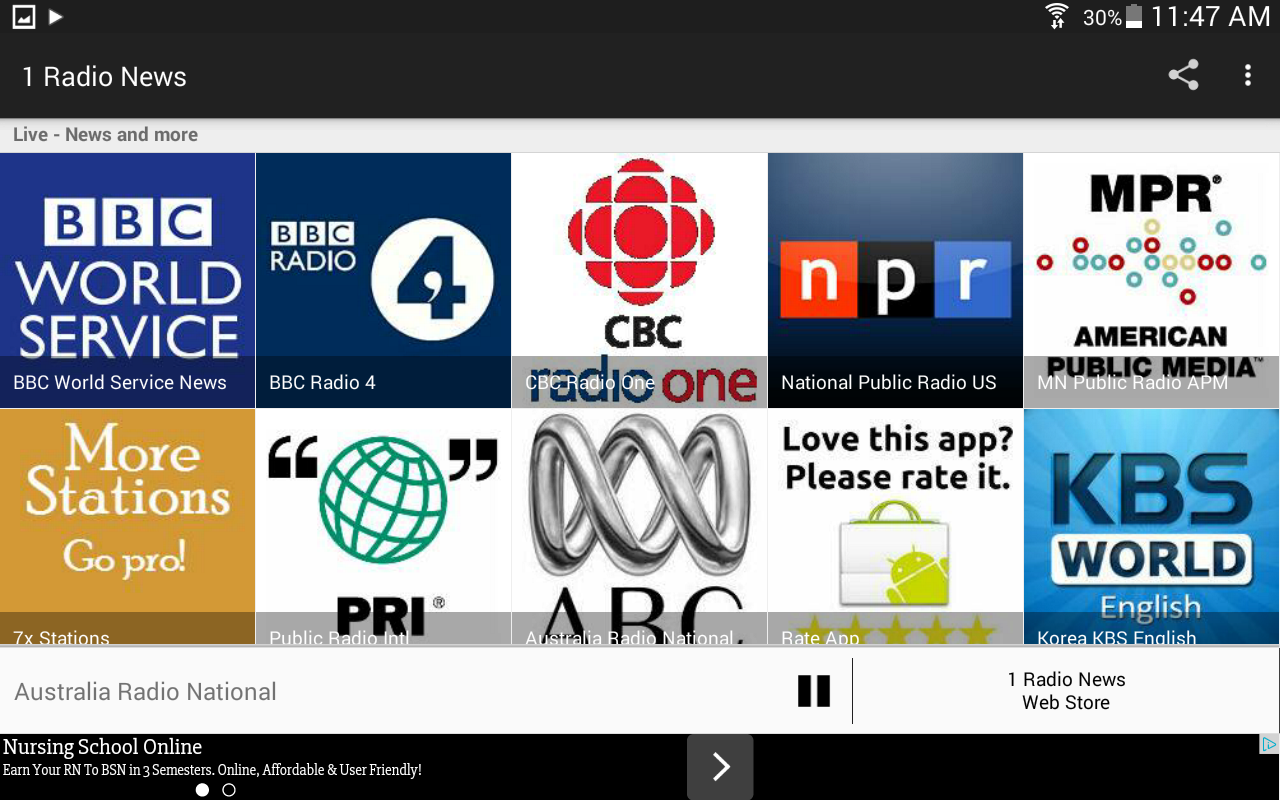 1 Radio News - World News- screenshot