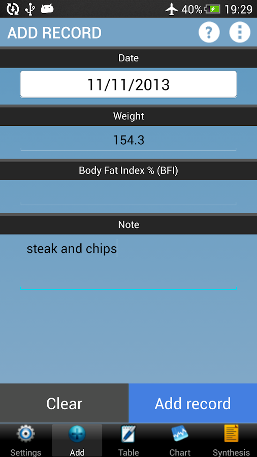 Weigh-In Lite - Weight Tracker - screenshot