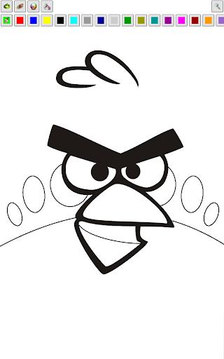 Angry Birds Раскраска для андроид