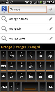 Orange Slate HD Keyboard Theme - screenshot thumbnail