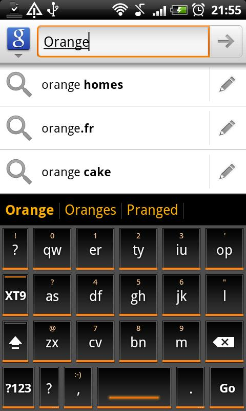 Orange Slate HD Keyboard Theme- screenshot