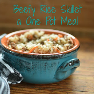One Pot Meal Beefy Rice Skillet
