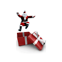 Santa Claus in a Box! logo