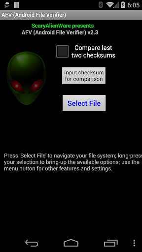 AFV File Verifier for Android™