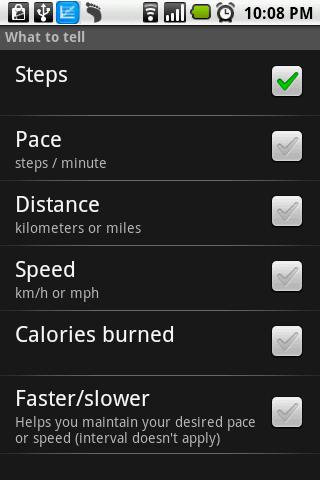 Pedometer - screenshot