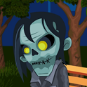 Zombie In Night Park Free icon