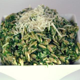 Spinach Parmesan Orzo Recipe