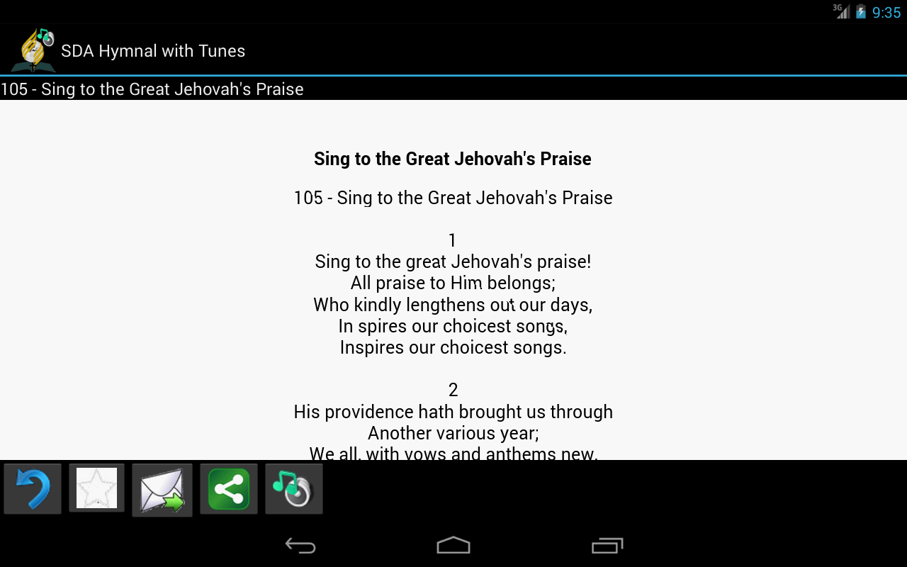 SDA Hymnal with Tunes- screenshot